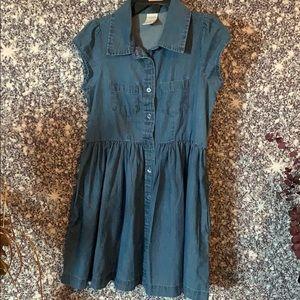 NWOT girls size 6 denim short sleeve dress